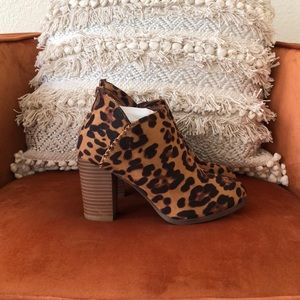 Shoes - Leopard Print Booties